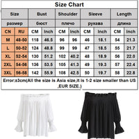 Emitiral 2017 Autumn Long Sleeves Women Blouses Sexy Off Shoulder Female Shirts Casual Tops Plus Size Black White Women Clothing