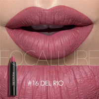 FOCALLURE 19 Colors Lipstick Matte Lipsticker Waterproof Long-lasting Easy to Wear Cosmetic Nude Makeup Lips
