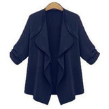 Fashion Jacket Women Thin Coat Fat Loose Cardigan Thin Cotton Elegant Plus Size Clothing Female Outwear Shirt Coat