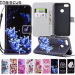For Huawei P9 Lite Mini Leather Flip Wallet Case Cover For Huawei Y6 Pro
