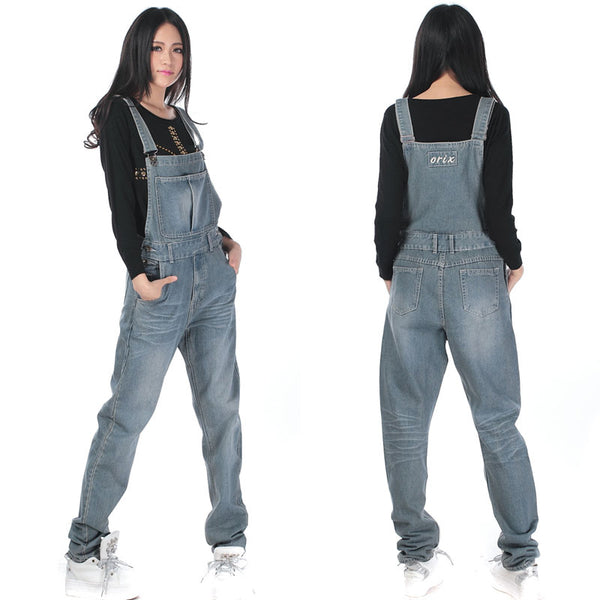 Jeans Fashion Loose Plus Size 5XL Pants For Women High Quality Overalls Jumpsuit And Rompers Denim Trousers