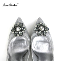 New Arrival Lace High Heels Rhinestone Women Wedding Shoes Handmade Brand