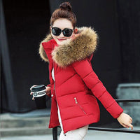 Fur Collar Hooded jacket Winter Women thick Snow Wear Coat Lady Plus Size Clothing Female Warm Cotton Jackets Parkas BN188