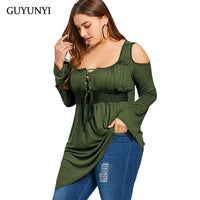 GUYUNYI Plus Size 5XL Sexy Deep V Neck Top Women Clothing Large Size Long Sleeve Vintage Loose Blouse Ladies Blusas Y224