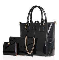 HOT 3 Pcs/ Set Women bag Luxury PU Leather bag female shoulder Bag