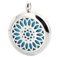 Hot Sale Silver Jewelry 30mm Magnet Aromatherapy Essential Oil 316 Stainless Steel Perfume Diffuser Necklace Locket  with chain
