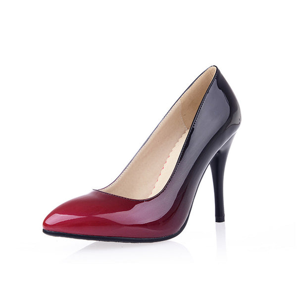 Women's shoes toe patent leather dress shoes high heels shoes wedding shoes