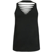 Kissmilk 2017 Women Clothing Plus Size Chocker Sleeveless Top Tee Back Cut Out Graphic Print Big Size T-shirt 3XL-7XL