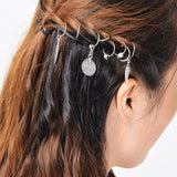 Women Hairpin Hair Clip Short Braid Dreadlocks Dreadlock Circle Hoop Headwear Women Hair Accessories