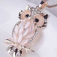 Owl Pendant Necklace Long Sweater Necklace Clothing Accessories