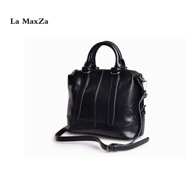 La MaxZa  Women's Handbag Best Leather Tote Shoulder Bags Soft Hot Split Leather Handbags Tote Bag Fashion Leather Purse