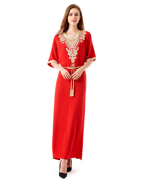 0fd37824498 ... Long sleeve long Dress maxi muslim dress islamic kaftan abaya plus size women  clothing big size