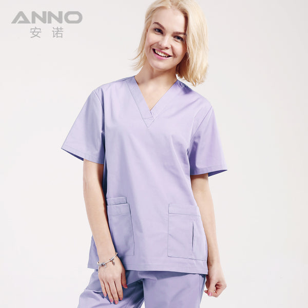 Medical uniform OEM scrubs set women scrubs cotton/polyester nurse dental spa salon