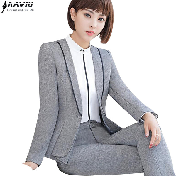 a9f363c8b6a Business suits formal office work pants suits plus size jacket and Trouser  ...