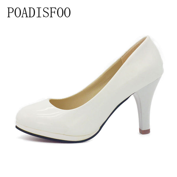 POADISFOO Shoes Women 2017 New Women Shoes 3 Color Black White Red