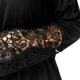 Plus Size 5XL Sexy Off The Shoulder Top Black Floral Lace Crochet Blouse Women Clothing Flare Sleeve Autumn Blusas Big Size