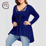 Plus Size 5XL Vintage Lace Up Blouse Shirt Women Clothes Autumn 2017 Long Sleeve Peplum Tunic Tops Sexy Lace Blusas Black
