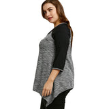PlusMiss Plus Size 5XL 4XL Sexy Front Lace Up Hollow Out Blouse Shirt Women Clothing Autumn 3/4 Sleeve Tunic Top Big Size Blusas