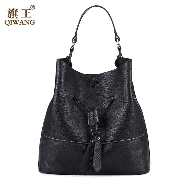 QIWANG Cowhide Genuine Leather Bags Brand Designer Fashion Women Bags Spanish Brand