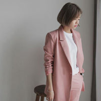 RUGOD New Blazers Pants Suit Solid Simple 2 two Piece Set Long Slim Jacket + Pants slim women blazers And jackets Plus Size