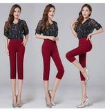 S-6XL New summer 2016 4 Color Elastic Waist Casual Elastic Skinny Pencil Pants Women Plus Large size Clothing Female Leggings