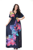 Sexy V neck Summer Dress Women Plus Size XL-7XL Clothing Big Size Ladies Beach Bohemian Maxi Sundress XXXXL 6xl Female Vestidos