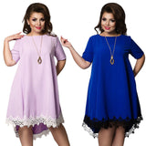 Short Sleeve Lace Dresses Big Size 5XL 6XL Summer Backless Large Size Dress Plus Size