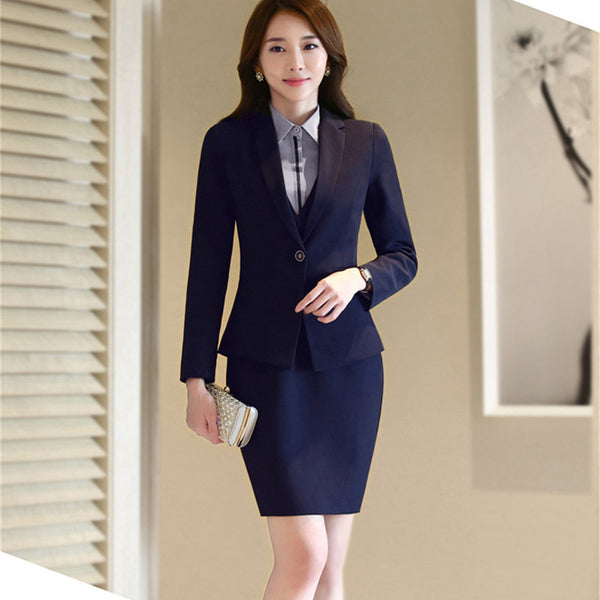 Woman business suits office uniform designs women elegant skirt work suit
