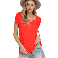 Summer Women Blouse Shirts Plus Size XXXXL 5XL V-Neck 2017 Fashion Blusas Femme Sexy Bandage Tops Tees Solid Female Clothing