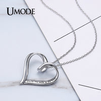 Sterling Silver Lettering Heart Pendant Necklace Women Bridal Wedding Jewelry Clothing Accessories Colar ALN0218