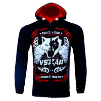 VSZAP Wolf Hoodies Male Long Sleeved Jacket Men Movement MMA Sweatshirts Supreme Hoodie Sporting Men's Clothing Plus Size S-4XL