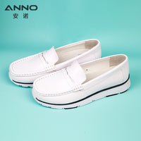 White Leather Classic Nurse Surgical Shoes Flat Hospital Medical Shoes