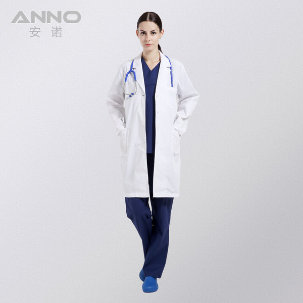 White Medical Lab Coat Clothing Plus size Long Nurse Doctors Coat Women Man Dental Disposable Cotton Doctor Uniform Scrubs