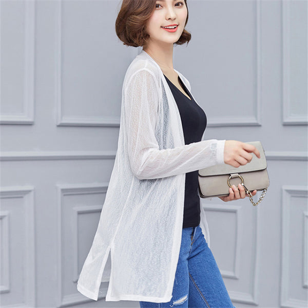 Casual Crochet Poncho Clothing Spring Summer Cardigan Blouse Shirt Tops