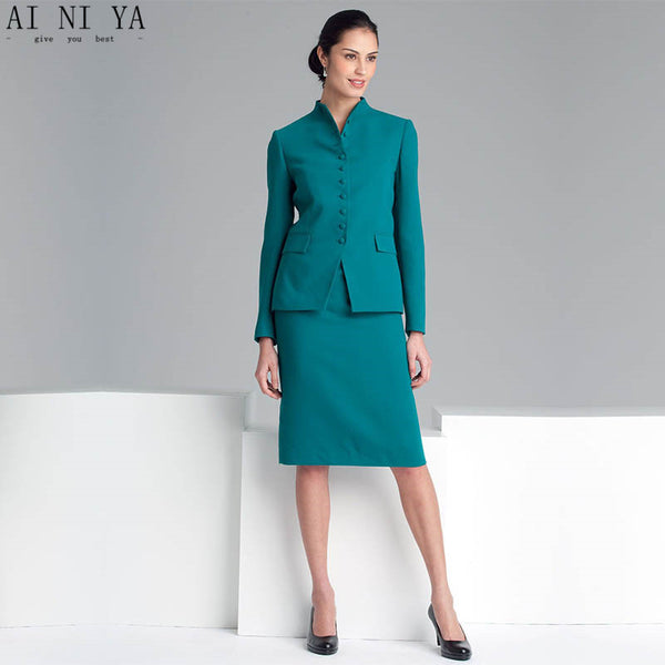Women Pant Suits Office Uniform Green Casual Single Button Woman Female Plus Size Work Suits Custom Made