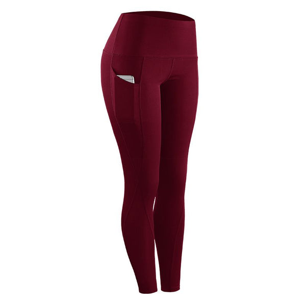 Fashion Leggings Women Stretch Sportswear Pants with Pocket  Women Compression Legs M-XXL