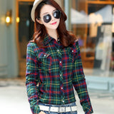 Women Thick Plaid Shirt Ladies Winter Velvet Outwear Business Shirts Casual Cashmere Top Cotton Blouse Plus Size Clothing Blusas
