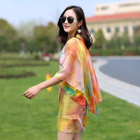 chiffon sun protection cardigan kimono sun shirt women clothing outerwear 2017 Summer Fashion Plus Size Clothing Casual Blouse