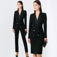 Business Pant Suits formal office work plus size Slim long-sleeve blazer and pants