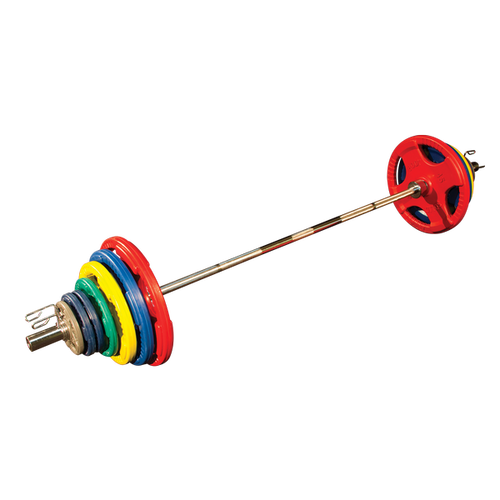 300 Lb. Colored Rubber Grip Olympic Set by Body-Solid