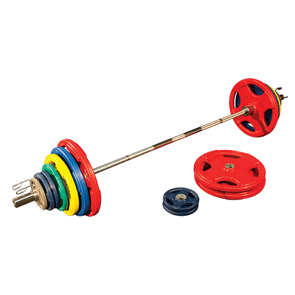 400 Lb. Colored Rubber Grip Olympic Set by Body-Solid
