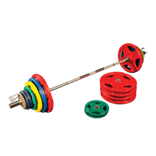 500 Lb. Colored Rubber Grip Olympic Set by Body-Solid