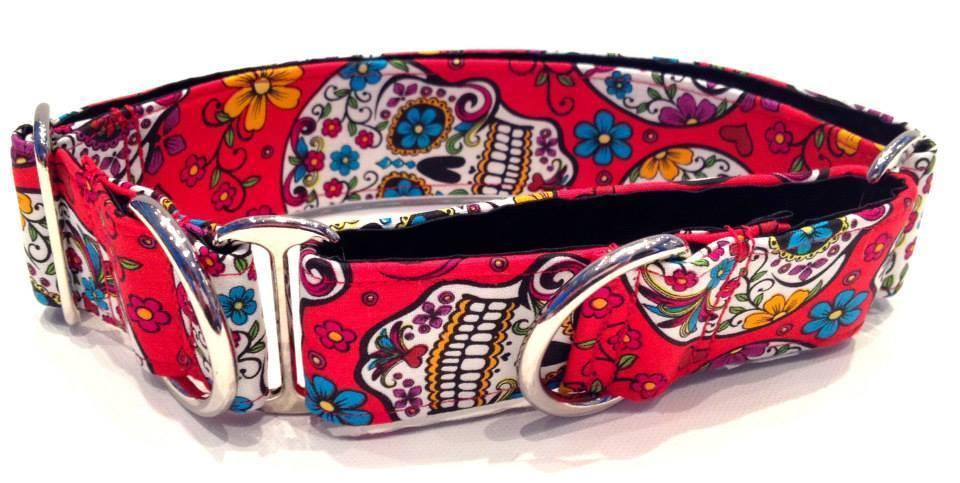 WiggleBumz Day Of The Dead - Red Dog Collar | BigPawShop.ca