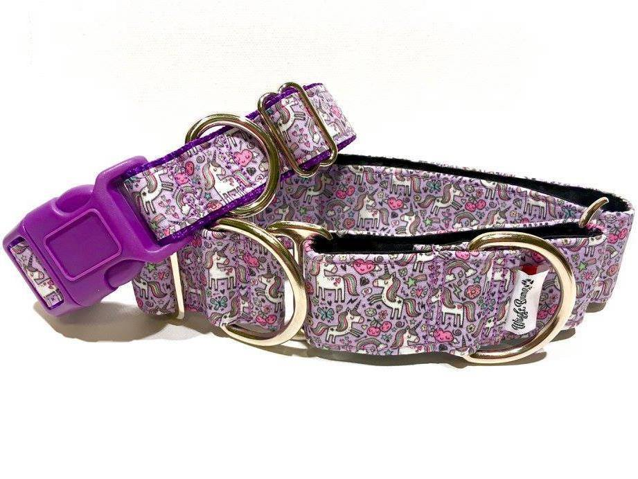 WiggleBumz Unicorns Rainbows & Donuts - Purple Dog Collar | BigPawShop.ca