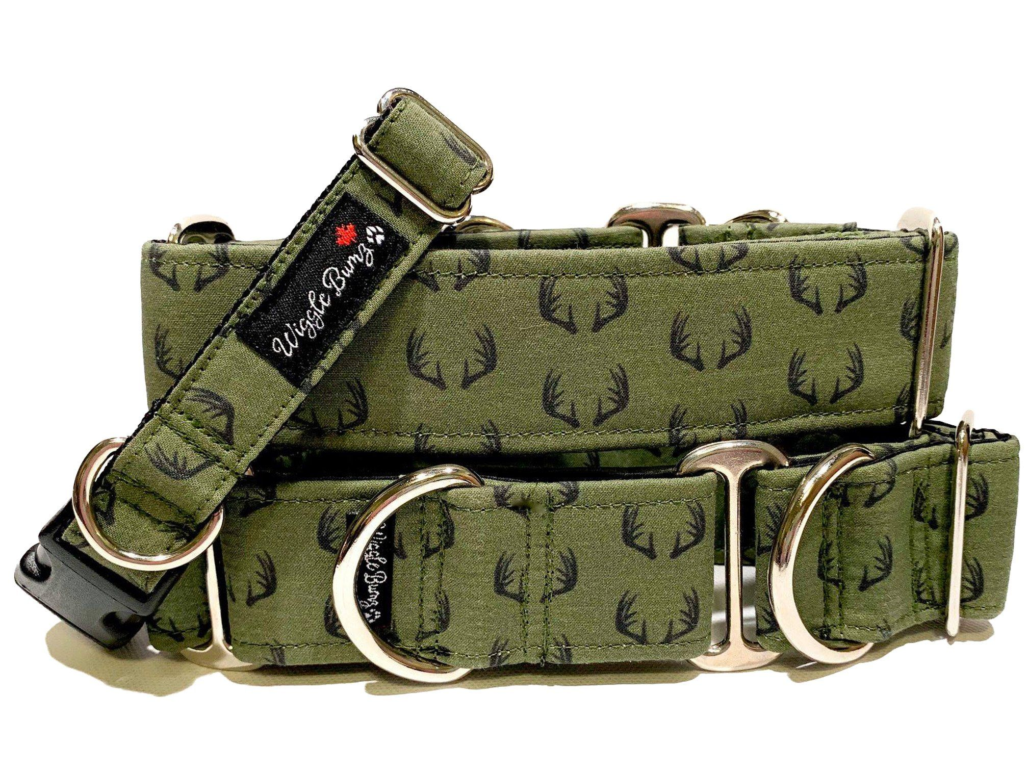 WiggleBumz Army Buck Dog Collar | BigPawShop.ca
