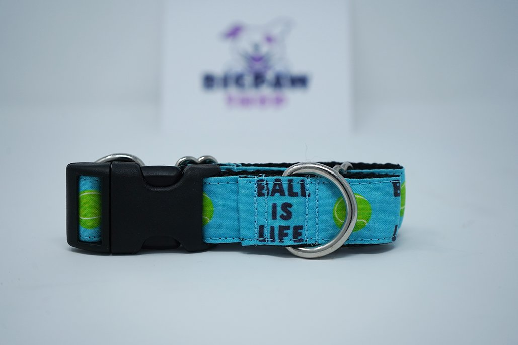 "Sample Sale - Ball Is Life (Blue) 1"" / 6""-12"" / Martingale with Buckle - BigPawShop"