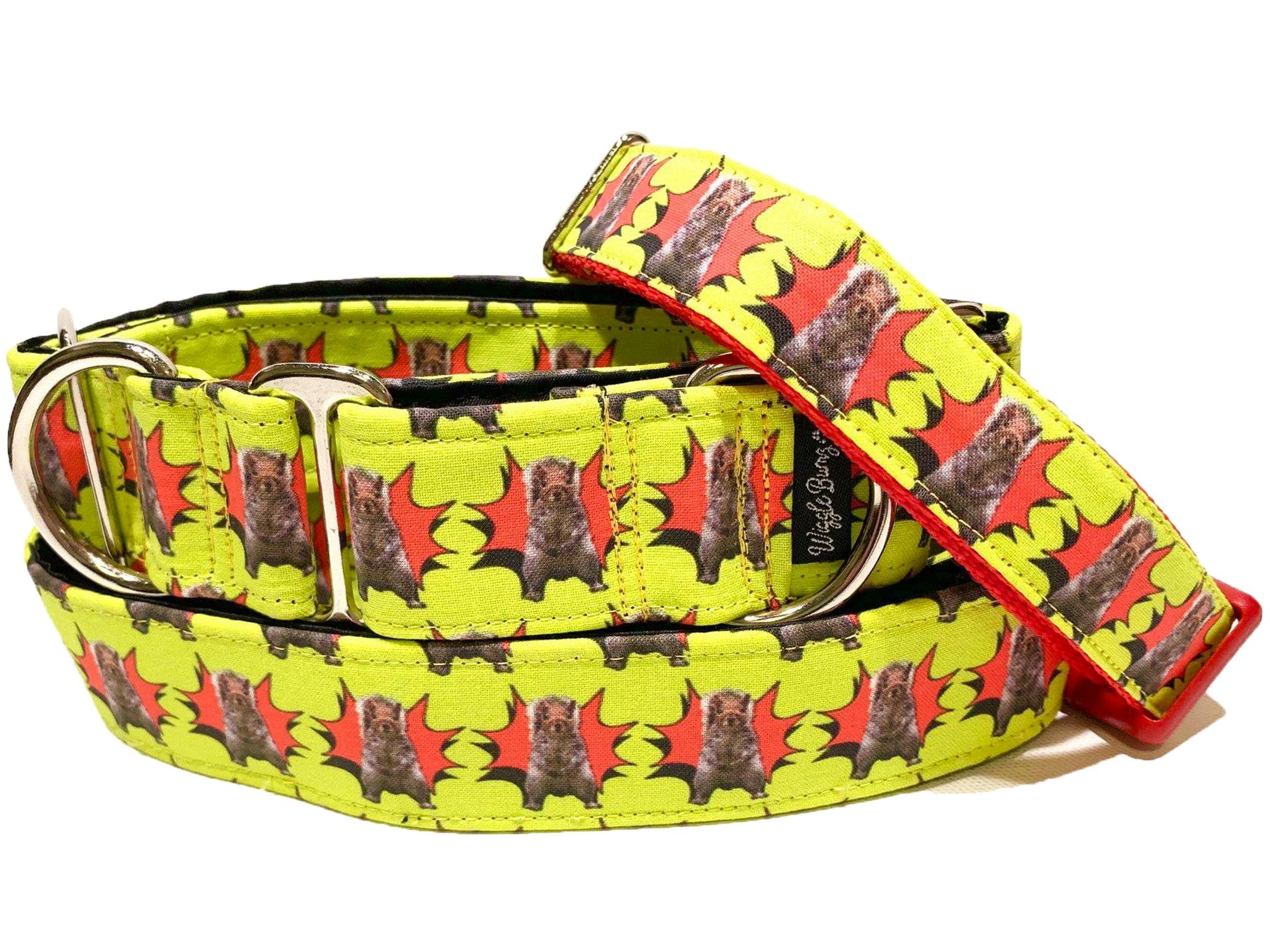 WiggleBumz Kung Pow Squirrel Dog Collar | BigPawShop.ca