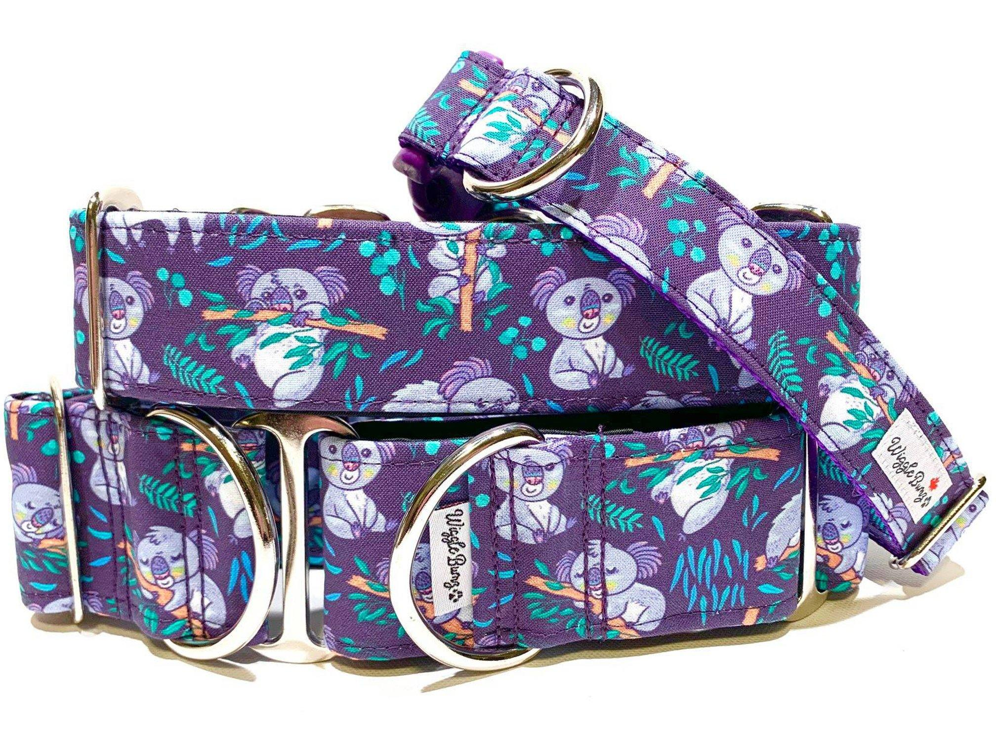 WiggleBumz The Koalafied Collar Purple Dog Collar | BigPawShop.ca