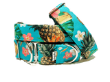 Dog collar with Pineapple and flowers