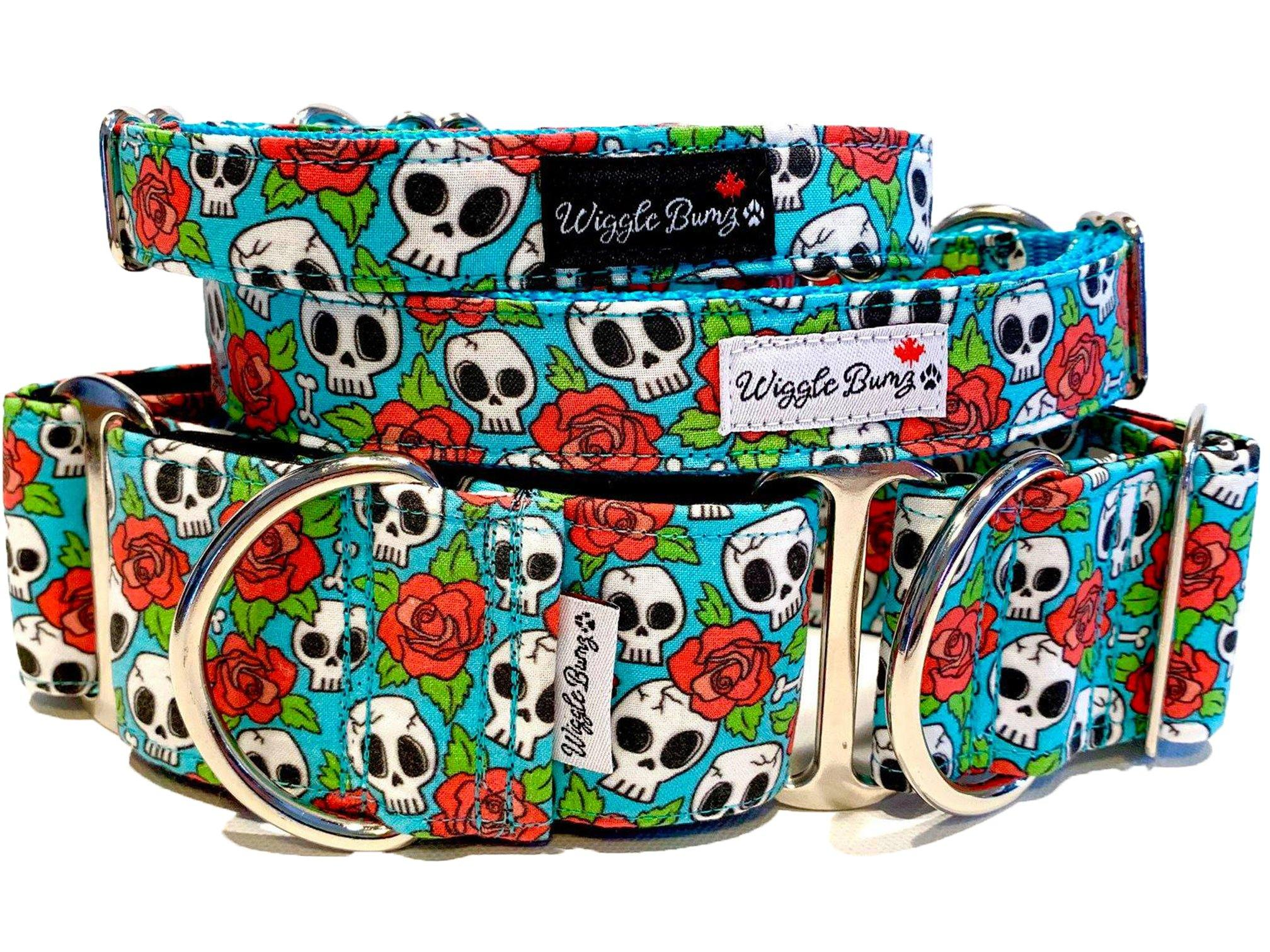 WiggleBumz Roses Can Be Deadly Dog Collar | BigPawShop.ca